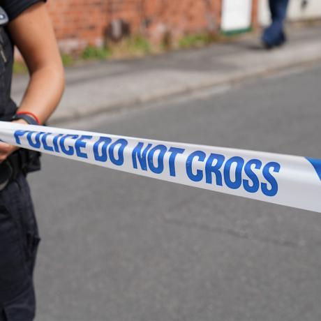 'Police do not cross' line