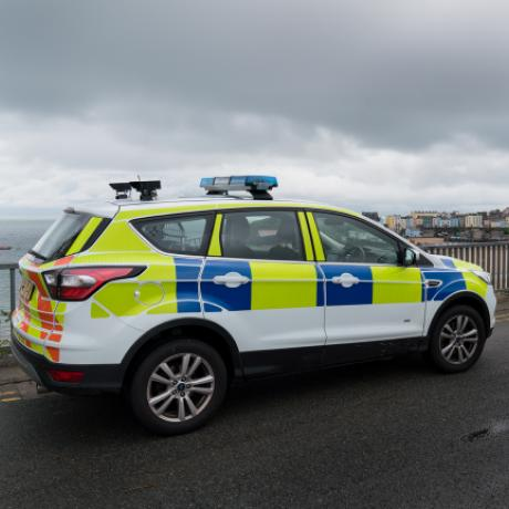 Police vehicle in Wales